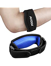 AVIDDA 2 Pack Tennis Elbow Brace With Compression Pad For Women And Men Golfers Elbow Brace For Tendonitis Pain Relief