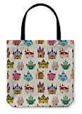 Gear New Shoulder Tote Hand Bag, Cartoon Fairy Tale Castle Pattern, 18x18, 5834617GN