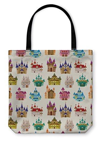 Gear New Shoulder Tote Hand Bag, Cartoon Fairy Tale Castle Pattern, 18x18, 5834617GN by Gear New