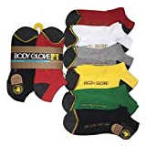 Body Glove 6 Pack Set Ankle LowCut Rasta Hiking Running Mens Socks Size 6-12