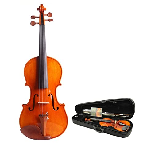 Violín Violín con arco Estuche rígido Kit de violín hecho a ...