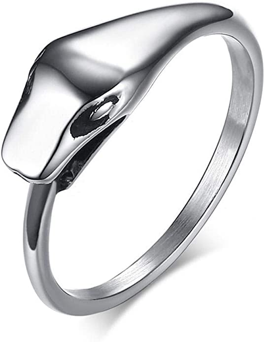 JEWURA Religious Ring Vintage Six Words Mantra Stainless Steel Ring