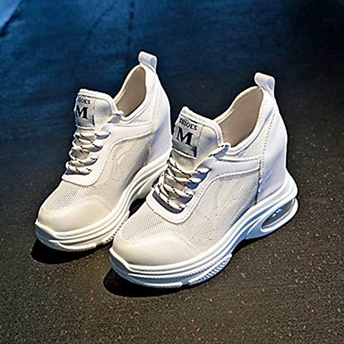 Scarpe Verde Primavera EU37 PU Sneakers 5 Bianco CN37 Estate White Comoda TTSHOES Per UK5 US7 Punta Donna Arancione Footing Retato Poliuretano Polacche Tonda pqAfAwE