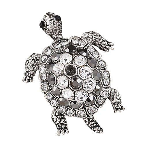 Baoblaze Vintage Tortoise Crystal Brooch Rhinestone Turtle Pin Animal Costume - Brooch Vintage Turtle