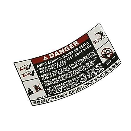 Amazon.com: MTD cortacésped repuesto cubierta etiqueta de ...