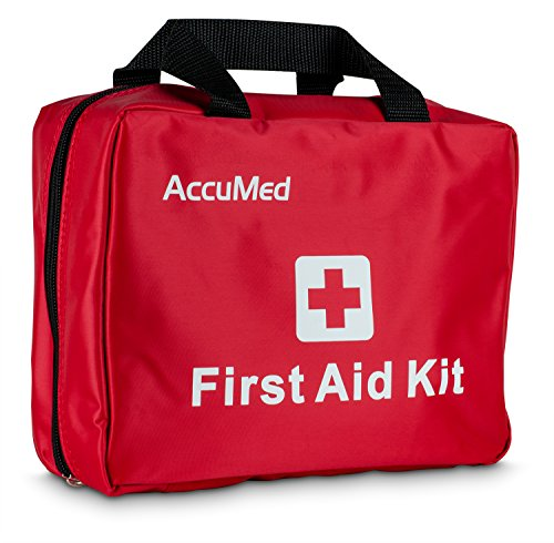 AccuMed Complete First Aid Kit 85-Piece Kit w/ 23 Unique Items - Perfect for Camping, Hiking, and All Outdoor Adventures! (85 Piece First Aid Kit)