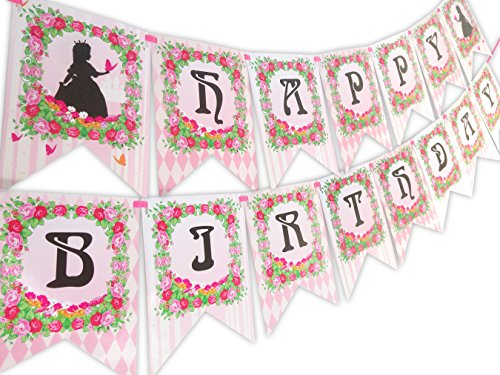 Princess Fairy Tale Happy Birthday Banner ()