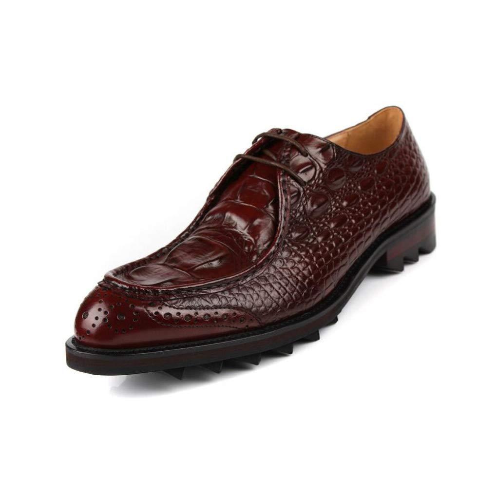 FuweiEncore Herrenmode Leder Formale Schuhe, Business-Spitze Zehenschuhe, Britische Stil Uniform Kleider Schuhe, Hochzeitsschuhe, Casual Party,braun,39 (Farbe   Wie Gezeigt, Größe   Einheitsgröße)