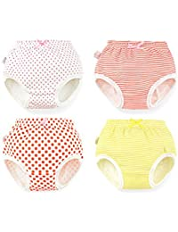 4pcs Baby Girl Infant Kids Cute Training Pants Cloth Underwear Nappy