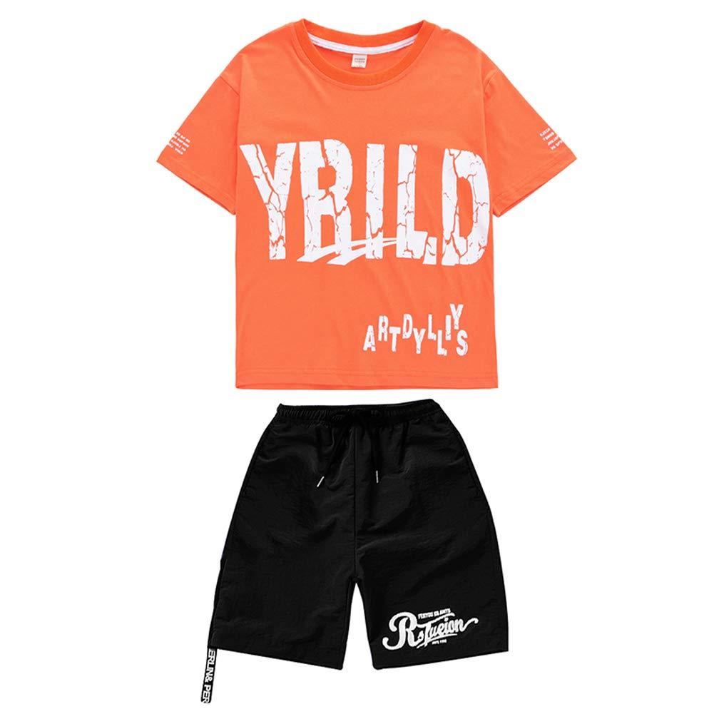 B 120CM L@YC Filles Garçons Hip Hop rue Dance Moderne Jazz VêteHommests Top Pantalons Moitiés Rétro Coton Robe Peignoir Enfants