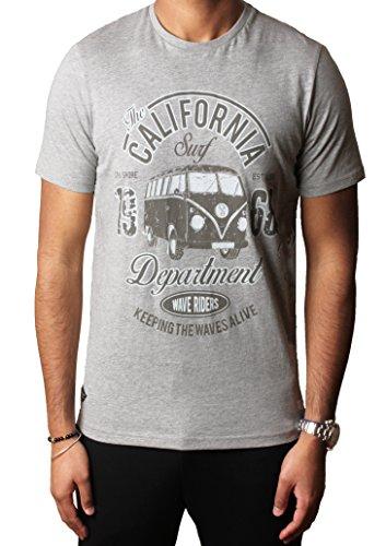 Herren Grafik Sortiert Foto drucken T-shirts Designer Baumwolle oben South Shore S-XXL,Hellgrau Mergel,XXL