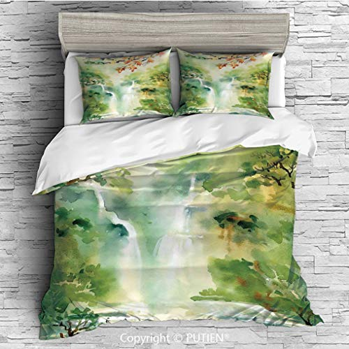 QUEEN Size Cute 3 Piece Duvet Cover Sets