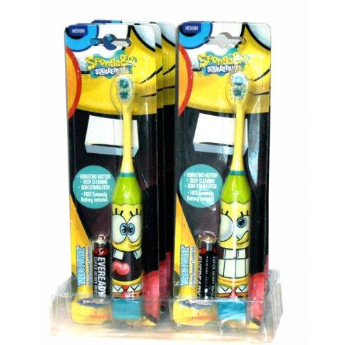 Higiene Dental y Tiritas TB-407-01 - Cepillo de dientes eléctrico Bob Esponja: Amazon.es: Bebé