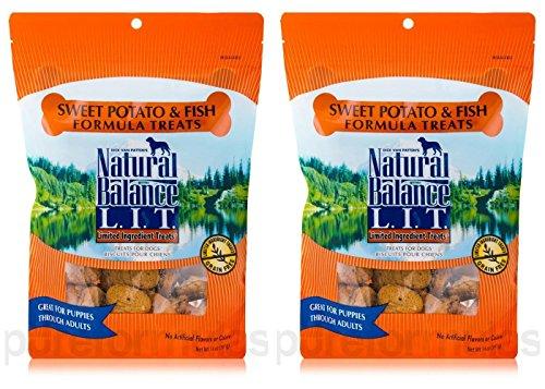 Natural Balance L.I.T. Sweet Potato and Fish Formula Dog Treats 28 ounce (2-pack 14 ounce each) ()