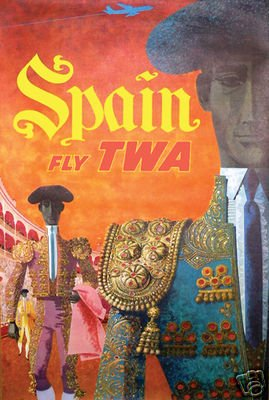 Spain Vintage Travel Poster Airline Rare Hot New