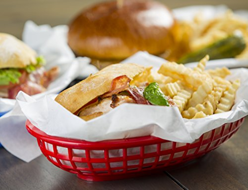 Tablecraft 6 Piece Assorted Sandwich & Fry Basket Set, 9