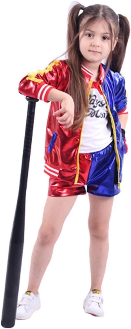 unbrand Adulto Niños Chica Harley Quinn Disfraz de Cosplay Disfraz ...