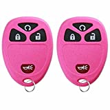 KeylessOption Keyless Entry Remote Control Car Key Fob Replacement 15913421 -Pink (Pack of 2)