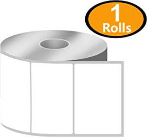 """BETCKEY - 3"""" x 2"""" Multipurpose & Shipping Labels Compatible with Zebra & Rollo Label Printer,Premium Adhesive & Perforated[1 Rolls, 750 Labels]"""
