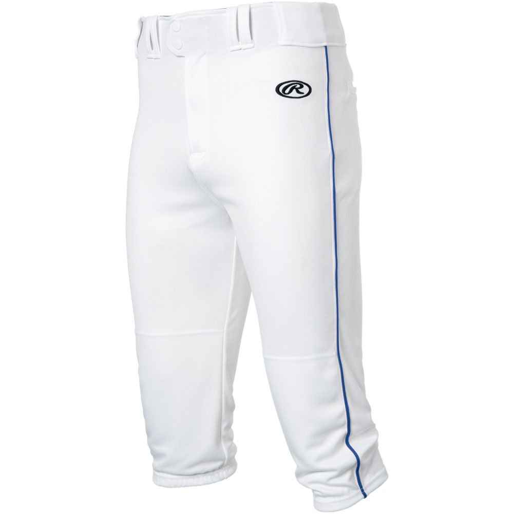 RawlingsメンズLaunch Piped Knickerパンツ B0778WX548 Small|White|Royal White|Royal Small