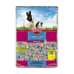 Kaytee Clean & Cozy Birthday Cake Bedding, 1000 Cubic Inch