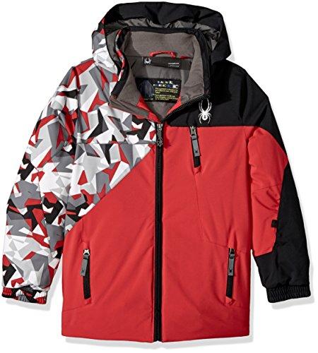 Spyder Mini Ambush Ski Jacket, Red/White Mini Camo Print/Black, Size - Ambush Red