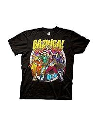 Ripple Junction Big Bang Theory Bazinga Group Comic Adult T-Shirt