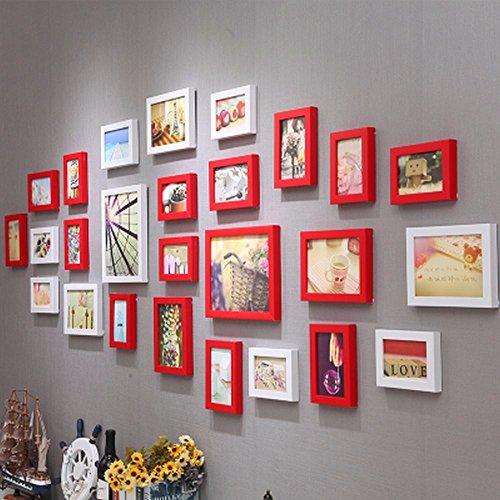 WUXK Minimalist modern living room photo wall decoration wall European creative photo frame wall photo wall combination 4 by WUXK