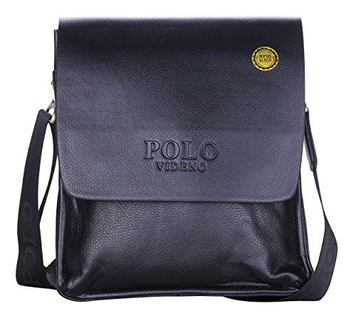 2bd9f4334c VIDENG POLO® Newest Men s Genuine Leather RFID Blocking Secure Briefcase  Shoulder Messenger Bags (V2-black) - Buy Online in UAE.