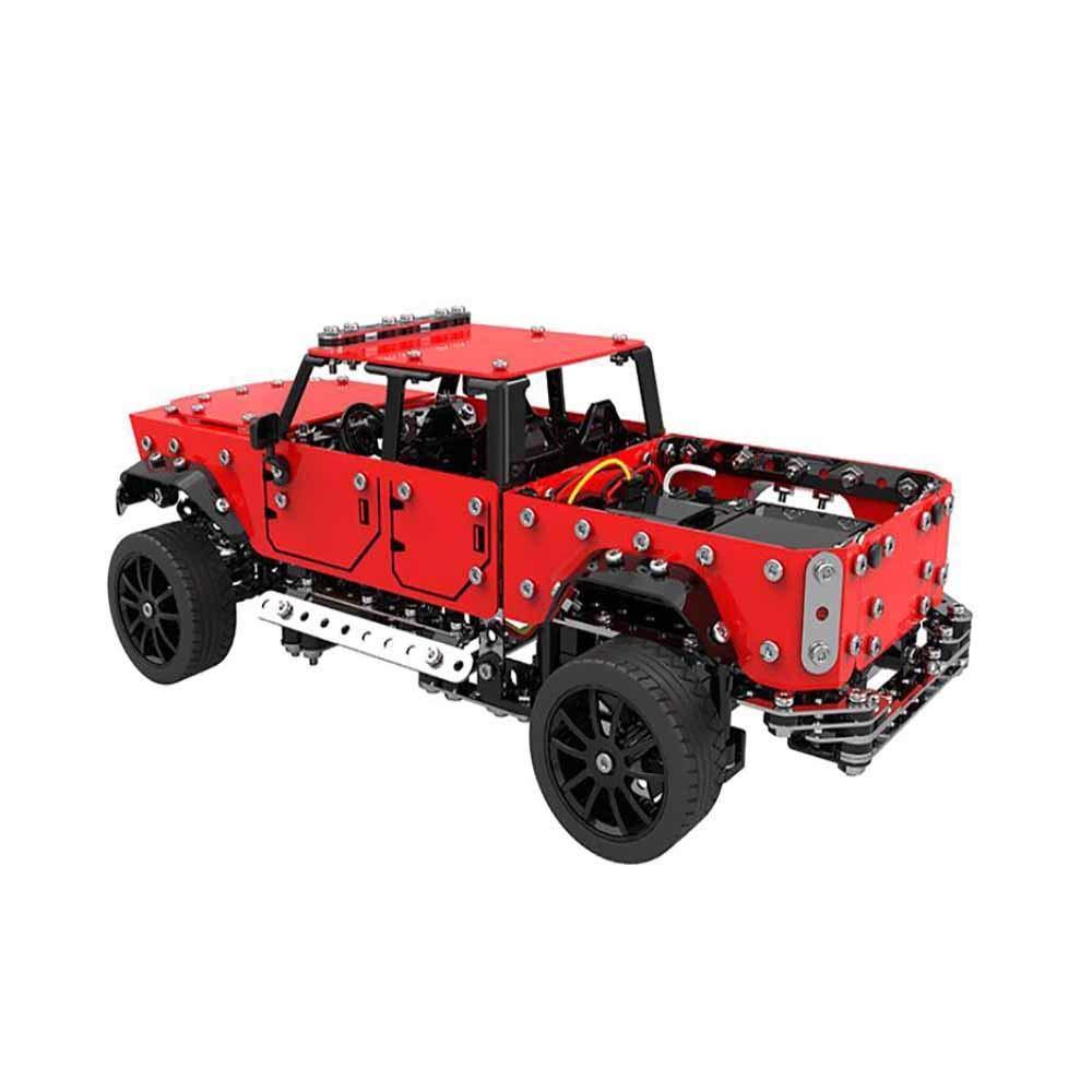 Muzili- Monster Truck Vehículo Recargable Aleación ensamblada de Control Remoto del Coche 1:16 de Acero Inoxidable 4 Canales de Control Remoto camioneta 817 ...