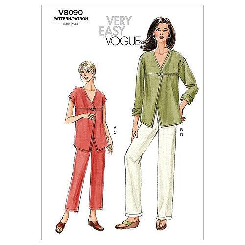Vogue Patterns V8090 Misses' Petite Jacket, Top and Pants, Size FF (16-18-20-22) ()