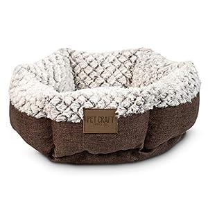 Pet Craft Supply Soho Round Cuddler Style Luxury Plush Ultra Soft All Season Self Warming Cat Kitten Puppy Small Dog Bed…