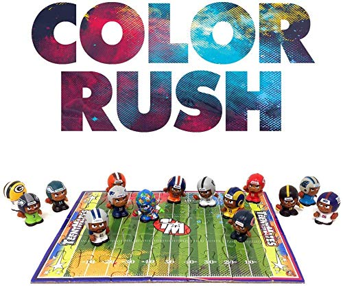 """TeenyMates 1"""" NFL Collectible 15 Player Figure 2019 Color Rush Collector Gift Box Set"""