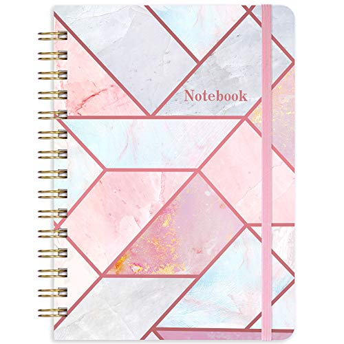 "Ruled Notebook/Journal - Lined Journal with Hardcover, 8.35"" x 6.3"", College Ruled Spiral Notebook / Journal, Back Pocket, Strong Twin-Wire Binding with Premium Paper, Home & Office"