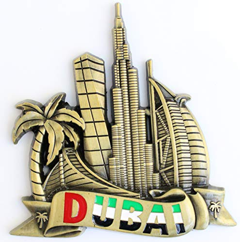Dubai Metal Fridge Magnet Unique Design Home ()