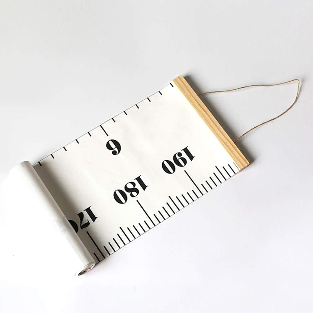 der einfache Hauptdekoration-Kinderwachstumstabelle h/ölzerne rollbare Fotografie-St/ützen-H/öhenma/ß h/ängt szdc88 Herrscher 1#