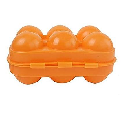 Shuda - Estuche de 6 huevos multiusos con tapa para nevera ...