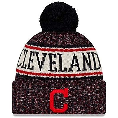 New Era Cleveland Indians NE18 Cuffed Pom Knit Beanie One Size Fits Most Cap Hat