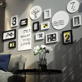 Photo wall / simple modern Nordic wood frame wall / combination living room wall / photo frame wall 11 box 162 79cm ( Color : B )