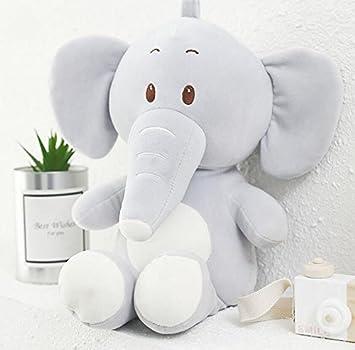 ShireyStore Muñeco de Felpa de Peluche de 55cm Muñeca de Elefante de Largo Muñeco de Peluche