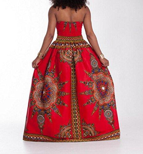 Coolred-femmes Équipées Afrique Floral Grande Robe De Soirée De Fête De La Poitrine Enveloppée De Pendule Comme Image
