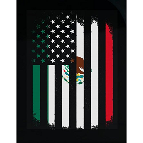 Mexico And America Combined Flag - Sticker