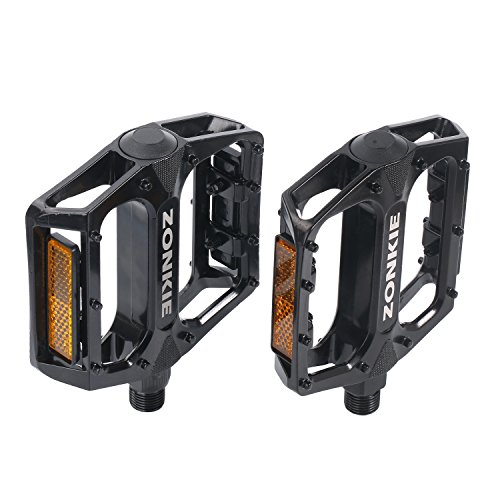 ZONKIE Bike Pedals,Mountain Bicycles Pedals Flat Aluminum Alloy Platform...