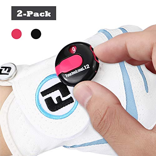 - Sarissa Golf Score Counter 2 Packs, Mini Golf Stroke Counter One Touch Reset with Clip Simple Attachment to Scorekeeper Glove