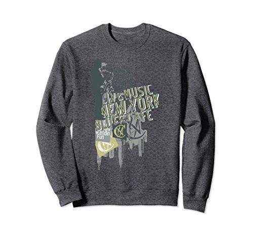 Unisex Jam Session NYC R&B Blues Music Lover Women Men Sweatshirts Large Dark - New York Rb