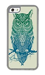 Apple Iphone 5C Case,WENJORS Cute Warrior Owl Soft Case Protective Shell Cell Phone Cover For Apple Iphone 5C - TPU Transparent