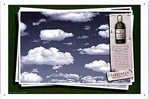 MarinaPolly Tin Sign Metal Poster Plate of Tanqueray Special Dry Gin: Clouds by Food & Beverage Decor Sign - 8×12 Inches ()