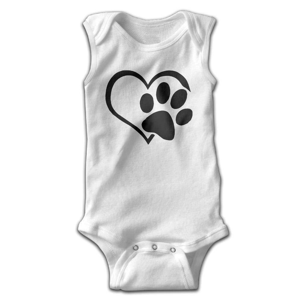 Love Paws Infant Baby Boys Girls Infant Creeper Sleeveless Romper Bodysuit Rompers Jumpsuit White