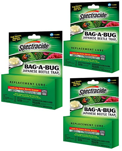 Spectracide 3 Pack of Bag-a-Bug Japanese Beetle Trap2 Replacement Lures ()