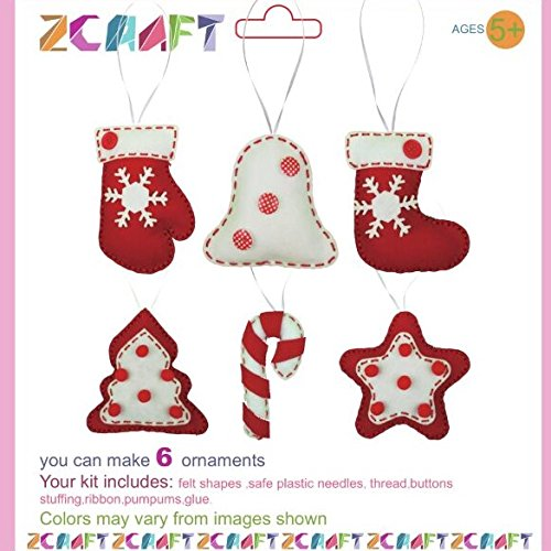Christmas Ornament DIY kit, Felt Christmas Ornament, Kids DIY kit (Christmas Sewing Projects compare prices)